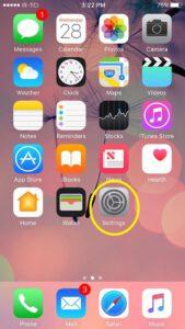 تصویر صفحه Iphone